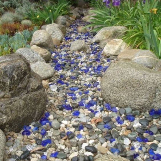 Dry steam bed, California native garden.  Stephen T. Swafford, landscape architect for Indah Bulan.