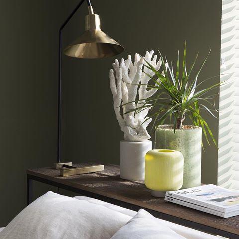 Les Murs Verts Ont La Cote Cet Ete Ici La Teinte Cactus Chez Flamant Slots Decoration Peinture Flamant Idees De Decor