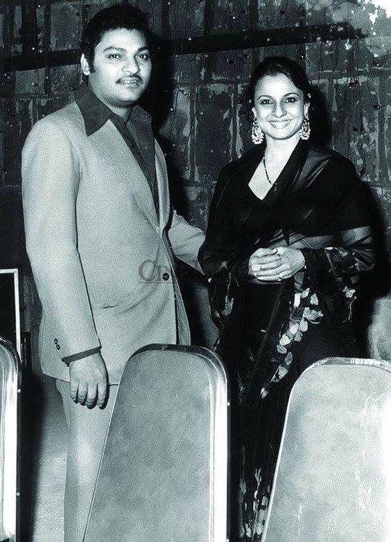 Tanuja and her film-maker husband Shomu Mukherjee ...