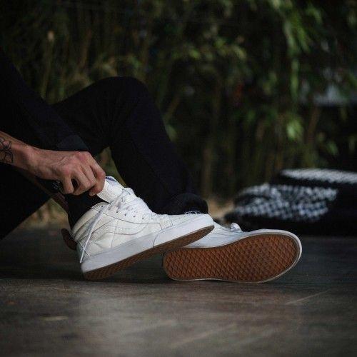 vans sk8 hi true white leather