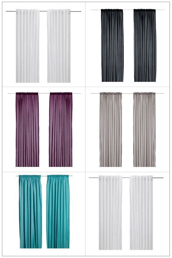 Amazon.com - Ikea VIVIAN Pair of Curtains, Drapes, 2 panels ...