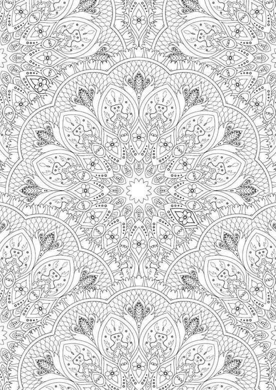 Abstract Doodle Coloring Pages : Abstract doodle zentangle paisley coloring pages colouring