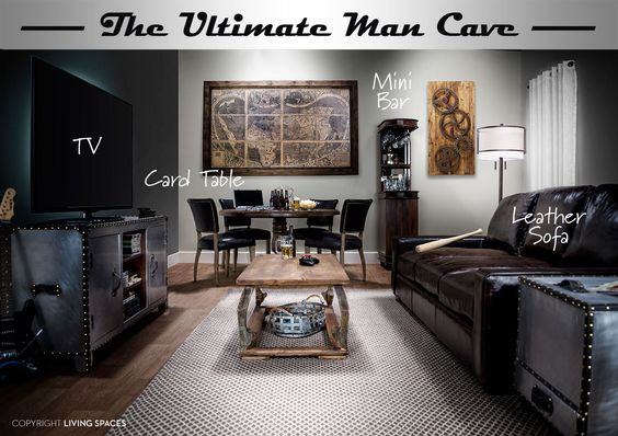 The Ultimate Man Cave   Living Spaces
