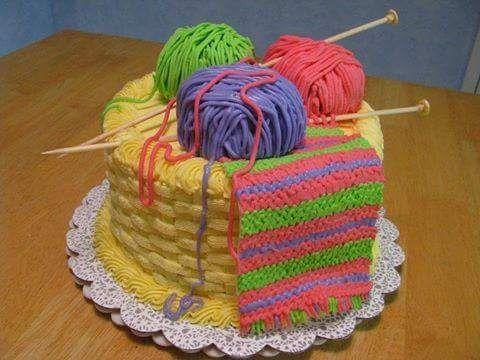 Torta para tejedoras