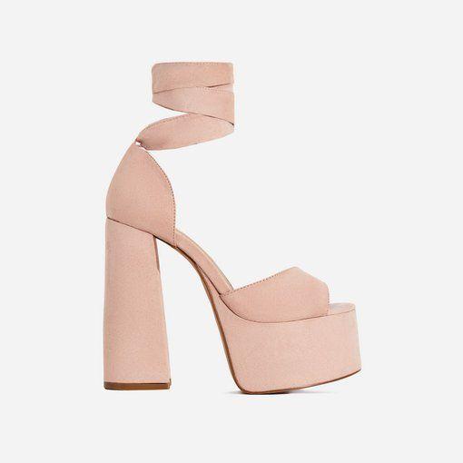 Faux suede, Platform heels