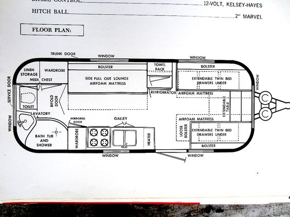 Airstream Sovereign Floor Plan Heres an image of the original