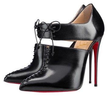 Christian Louboutin Leather Corsita Cutout Black Boots $895