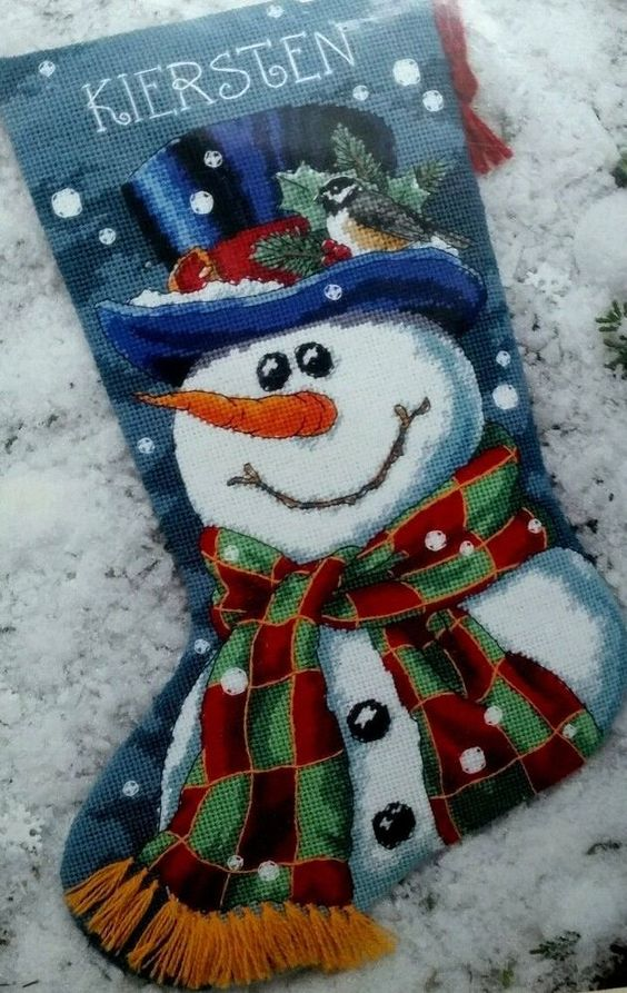 Fine Dimensions Todd Trainer Mr Frost Snowman Needlepoint Easy Diy Christmas Decorations Tissureus