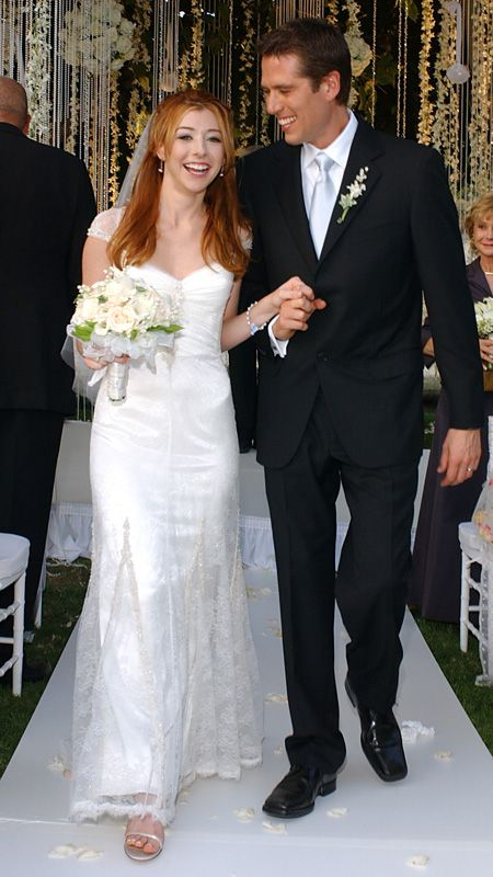 The Best Dressed Celebrity Brides of All Time - Alyson Hannigan - from InStyle.com: