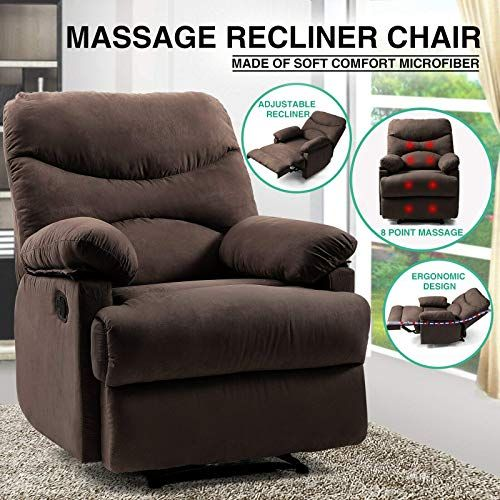 Amazing Offer On Artist Hand 8 Point Massage Recliner Lounge Chair Zero Gravity Microfiber Ergonomic Living Room Sofa Heated Control Home Theater Seating Fit In 2020 Lounge Chair Recliner Home Theater Seating