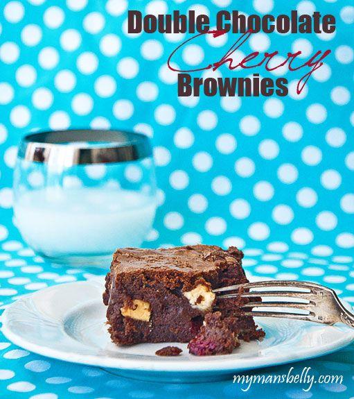 chocolate cherry, brownie recipe, double chocolate, chocolate brownies ...
