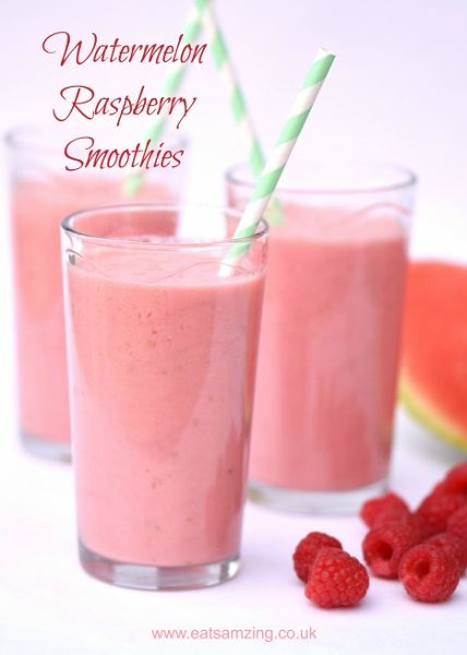 Refreshing Easy Watermelon Smoothie Recipes from Eats Amazing UK - great healthy breakfast idea for kids