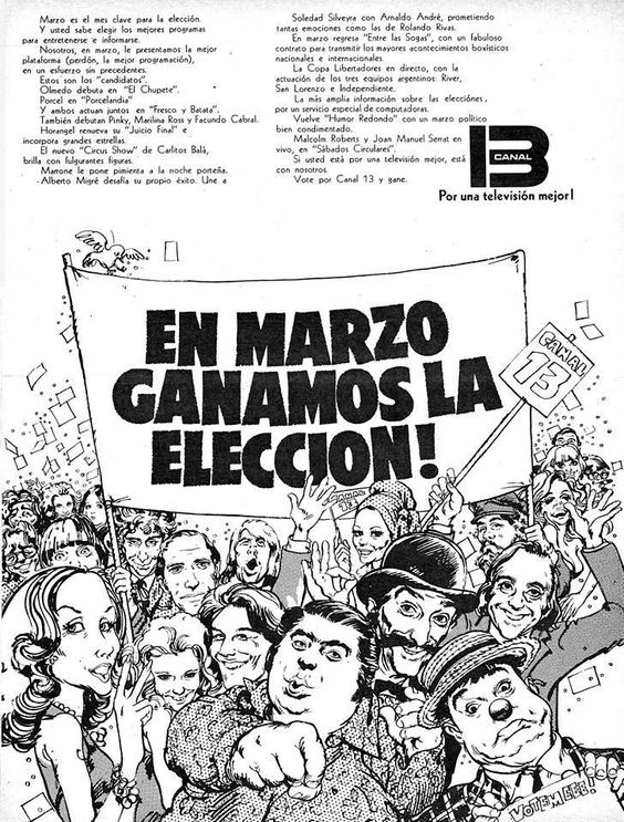 Canal 13, 1973.