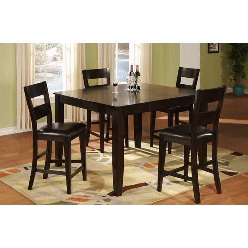 Chic 5 Piece Extendable Dining Set Kitchen Dinings Room Furniture