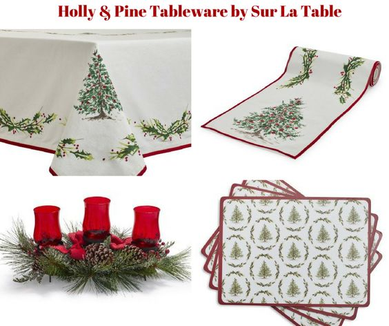 Holly and Pine Table Linens by Sur La Table