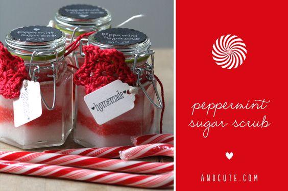 Peppermint Sugar Scrub made some for @Holly Elkins Elkins Becker and @Steffi Wuensche Wuensche von Ohhh Mhhh Perfect girlfriend gift!