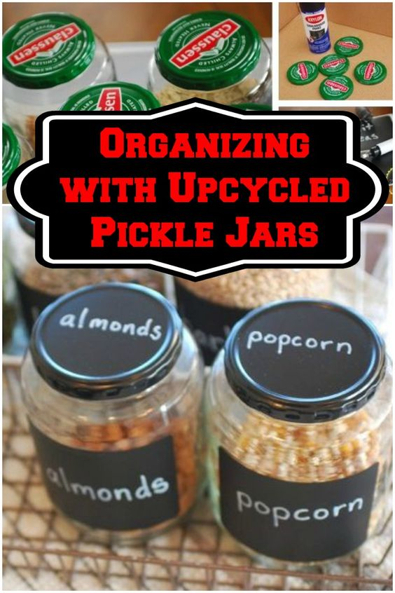 When life hands you pickle jars.....use them to organize your pantry in style!