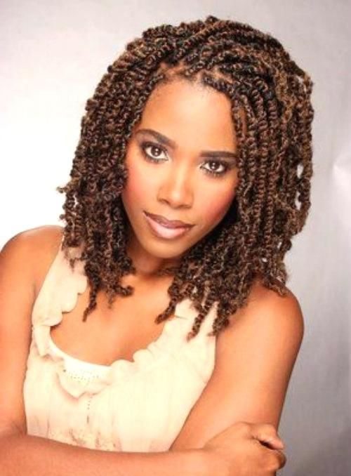 Two Strand Twist Short Hairstyles Model Braided In 2019