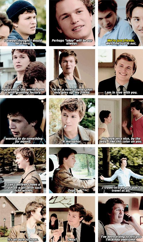 Augustus Waters.. okay I don't really like him, but ya know, he's a little classy, and sassy.