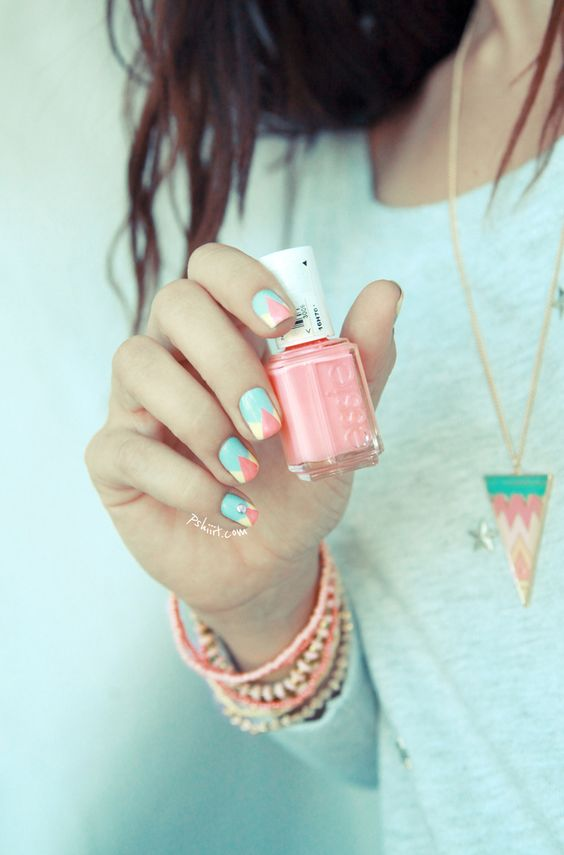 Aztec Nail Art #summer