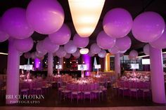 Large White Balloons on Ceiling