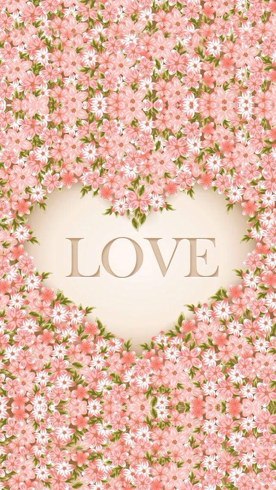 Lovely Love Design Wallpaper : !!TAP AND GET THE FREE APP! Pattern Love Flowers Girly Romantic Pink Lovely Heart HD iPhone 5 ...
