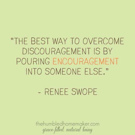 Get over discouragement