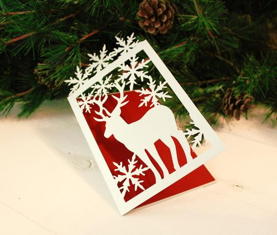 Christmas Card Svg Dxf Ai Crd Eps Card Templates Etsy Christmas Cards Christmas Card Template Christmas Photo Booth