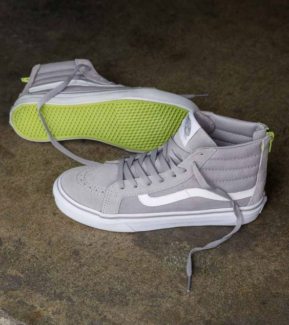 Make It Pop: The Pop Sk8-Hi Slim Zip in Silver Sconce.