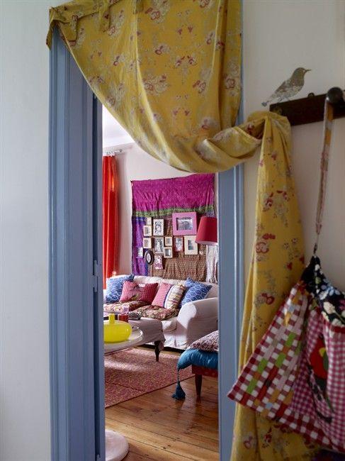 Fabric door drape. For foyer?