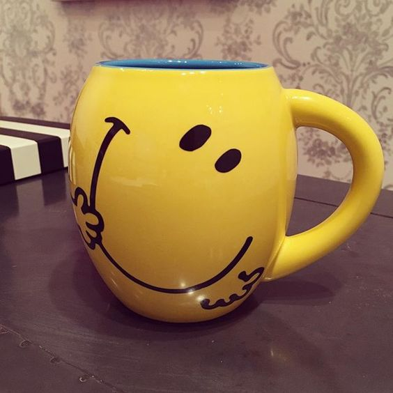 Mr. Happy Mug #happymonday #morningcoffee #smilemug #chicagodentist #dentaloffice #smilesmatter #smilesallaround