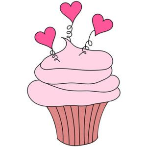 valentine cup cake clipart comments - Google Search: