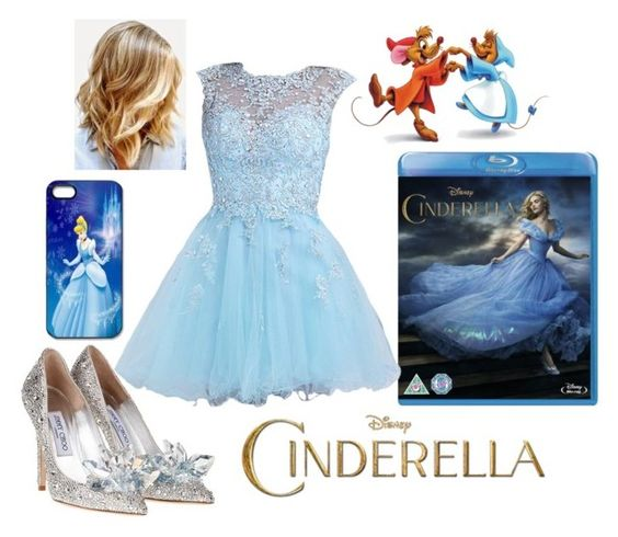 """""""Happy Cinderella DVD/BluRay Release Day"""" by briony-jae ❤ liked on Polyvore featuring women's clothing, women, female, woman, misses and juniors"""