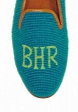 Needlepoint Monogram Loafer