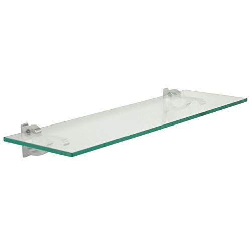 Floating Glass Bathroom Shelf Finish Chrome Size 36 W X 6 D