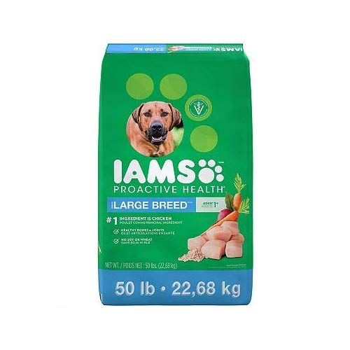 Iams Adult Proactive Health Large Breed Chicken Dry Dog Food 50
