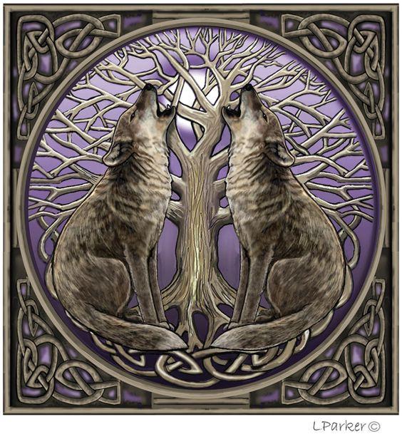 Lisa Parker - Moongazing Wolves: