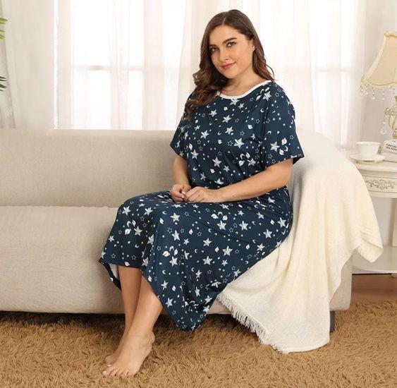 ثوب نوم ناعم ومريح مقاسات كبيرة المقاسات من Xl إلى 4xl السعر 45 ريال إستلام فوري مقاس 4xl متجر نعوما Dresses Fashion Dresses With Sleeves