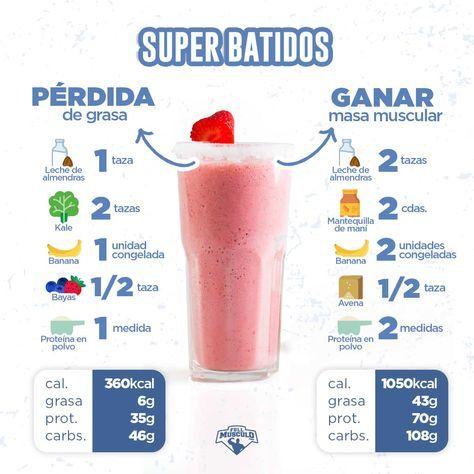 12 Deliciosos Batidos Para Subir De Peso Fullmusculo Com Batido Proteinas Casero Alimentos Aumentar Masa Muscular Batidos Proteicos