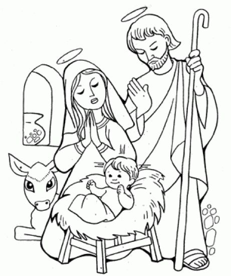 Dibujos para colorear de navidad cristianos