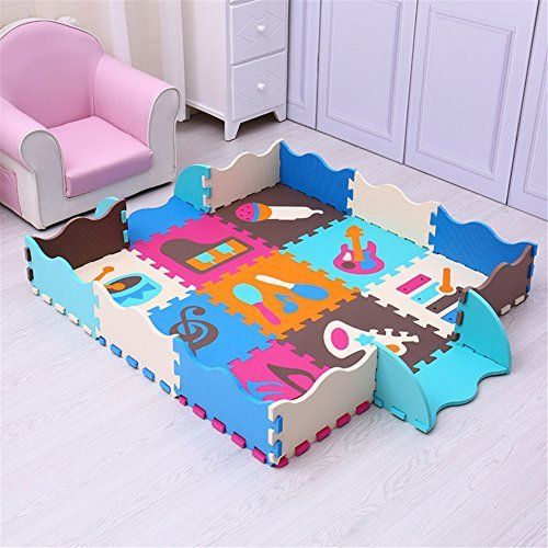 Eanpet Large Area Rugs For Kids Carpet Playmat For Baby Crawling Mat Double Sides Foam Floor Mat With Fence Non S Baby Play Mat Foam Kids Playmat Baby Play Mat