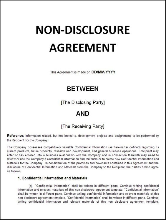 Limited Edition -  - non disclosure agreement