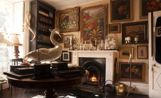taxidermy drawing room