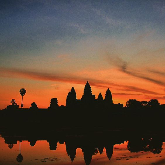 Sunset over Angkor Wat, Cambodia #travel #sirwanderlust #adventure #ttot