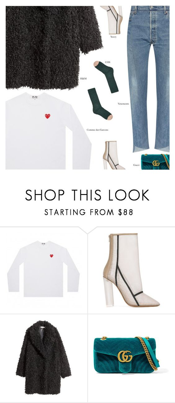 """""""Untitled #4337"""" by amberelb ❤ liked on Polyvore featuring adidas Originals, H&M and Gucci"""