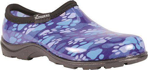 Principle Plastics Sloggers Women S Blue Paw Print Rain Garden