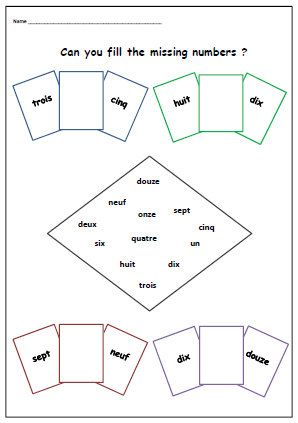 FRENCH NUMBER WORKSHEET-Primary Printable KS1 KS2-Learn the ...