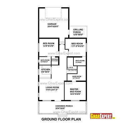 House Plan For 27 Feet By 70 Feet Plot Plot Size 210 Square Yards Gharexpert Com In 2020 How To Plan Ground Floor Plan House Plans