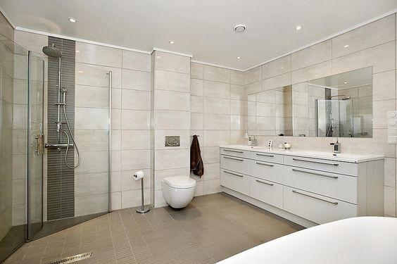 Drømme badet mitt : ) helstøpt dobbel vask. underskap fra http ...