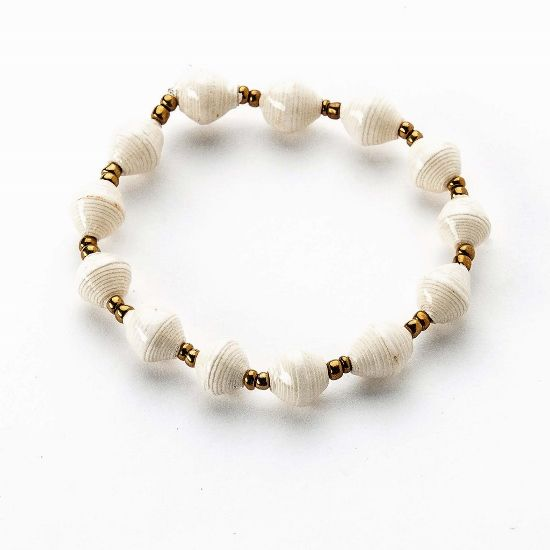 Atitiny Slim Stackable Bracelet | Ivory | $9 | More color options available. #bride #bridesmaids #handmade